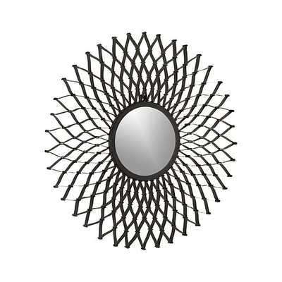 Dahlia Round Wall Mirror - Crate and Barrel