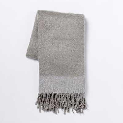 Cozy Texture Throw - Platinum - West Elm
