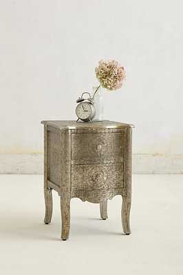 Hand-Embossed Nightstand - Silver - Anthropologie