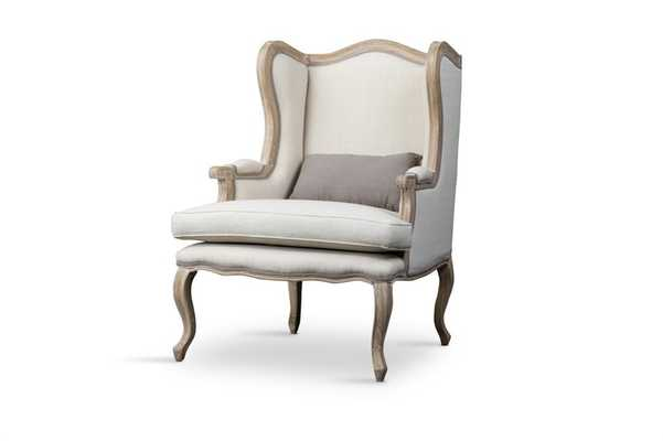 AUVERGNE WOOD TRADITIONAL FRENCH ACCENT CHAIR - Lark Interiors