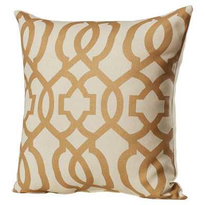 """Ashford Throw Pillow - Gold - 16.5"""" H x 16.5"""" W - Polyester fiber fill insert - Wayfair"""