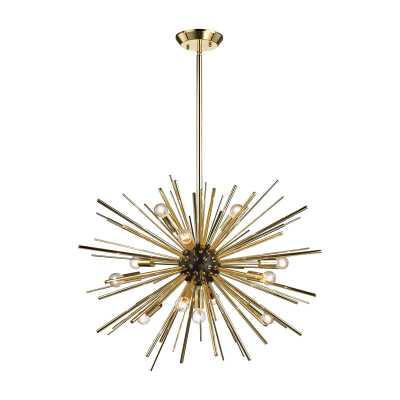 Starburst 12 Light Pendant In Gold - Rosen Studio