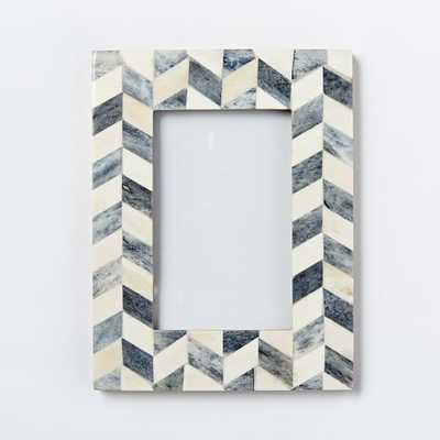 Bone Frames Gray/White, Zigzag - West Elm