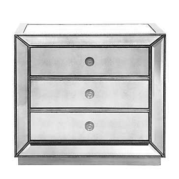 Omni Mirrored 3 Drawer Chest - Z Gallerie