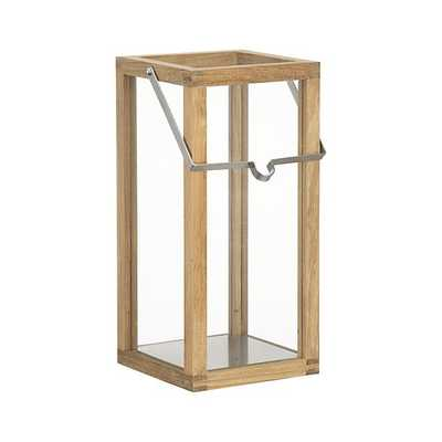 Crosby Small Teak Wood Lantern - Crate and Barrel