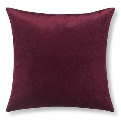 """Velvet Pillow Cover, 22"""" X 22"""", Moonlit Violet - Insert sold separately - Williams Sonoma Home"""