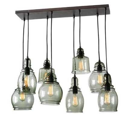 PAXTON GLASS 8-LIGHT PENDANT, 10' CEILING PENDANT - Pottery Barn