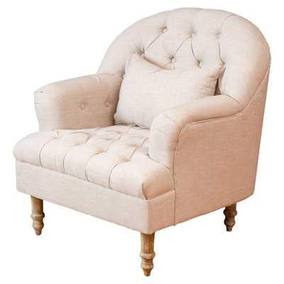 Dolores Tufted Chair - Beige - Wayfair