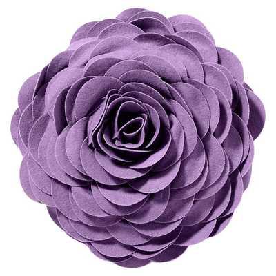 "Flora Felt Pillow - 14"" dia. - Lavender - Polyester fill - Pottery Barn Teen"
