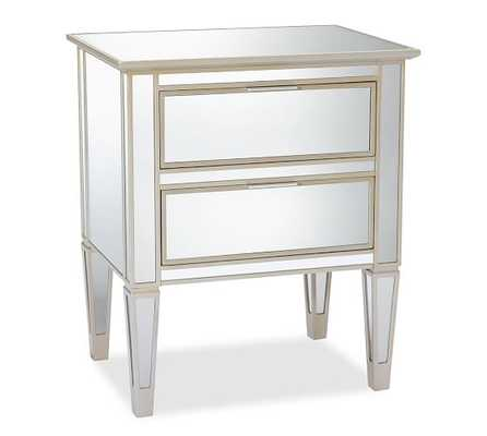 Park Mirrored 2-Drawer Bedside Table - Pottery Barn