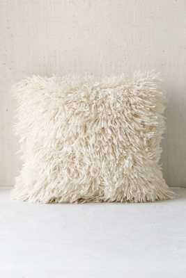"Assembly Home Shaggy Sweater Pillow - Cream - 16"" x 16"" - Urban Outfitters"