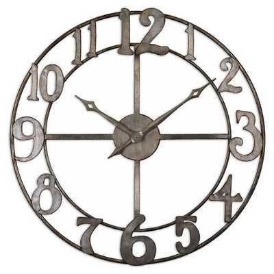"Uttermost Delevan 32"" Metal Wall Clock - Target"