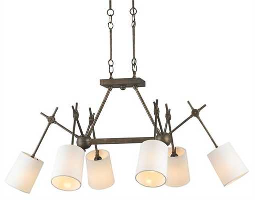 Compass Rectangular Chandelier - Currey and Company