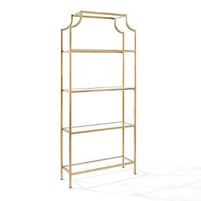 Crosley Aimee Glass Etagere in Gold - Bed Bath & Beyond