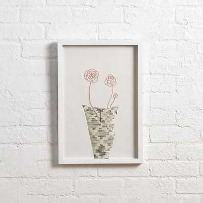 "Pink Still Life Wall Art(Pink) - 13""Wx19.25""H - Framed - Land of Nod"