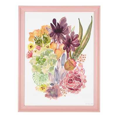 Floral Burst Framed Wall Art - 13.5x17.5 - Framed - Land of Nod