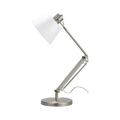 Slim Desk Lamp with White Shade - Crate and Barrel