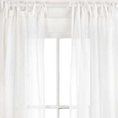 "SAVANNAH LINEN GAUZE WHITE WINDOW PANEL - 42"" x 84"" - Pine Cone Hill"