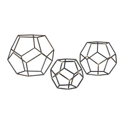 Geometric Orbs - Set of 3 - Rosen Studio