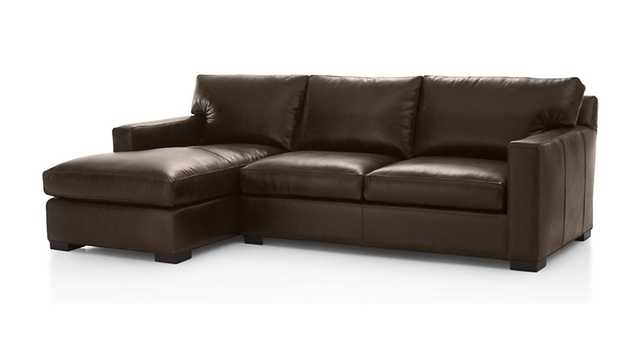 Axis II Leather 2-Piece Sectional Sofa - Cashew - Crate and Barrel
