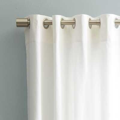 """Cotton Canvas Grommet Curtain - White, 48""""x108"""" - West Elm"""