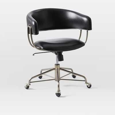 Halifax Leather Office Chair - West Elm