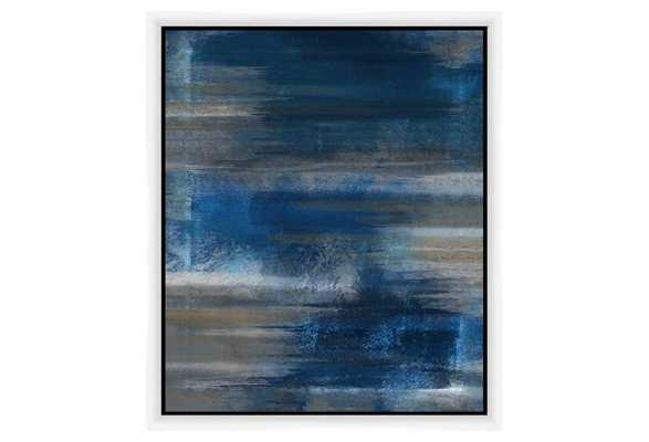 """Blue Abstract-21.5"""" x 25.5""""-Framed - One Kings Lane"""