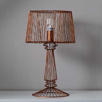 Real Light Wire Table Lamp - Bronze - Land of Nod