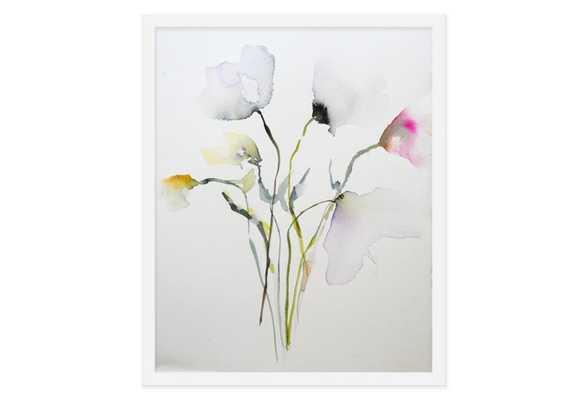 "Karin Johannesson, Transparent Petals - 16"" x 13"" - White frame- no mat - One Kings Lane"