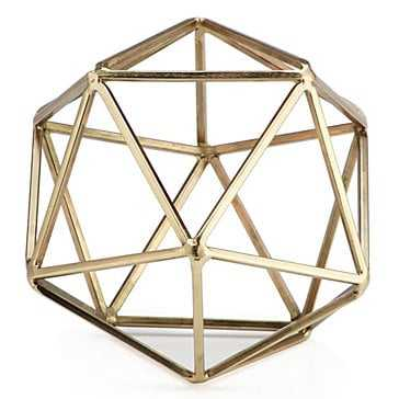 Hexadome Sphere - Golden - Z Gallerie
