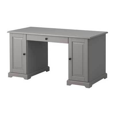 LIATORP Desk, gray - Ikea