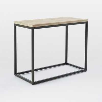 Box Frame Narrow Side Table - Raw Mango/Antique Bronze - West Elm