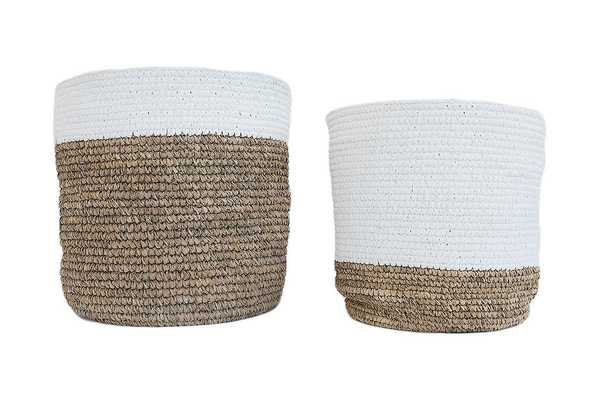 WHITE & NATURAL BASKETS - McGee & Co.