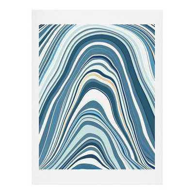 "MARBLE BLUE Art Print - 8"" x 10"" - Unframed - With mat - Wander Print Co."