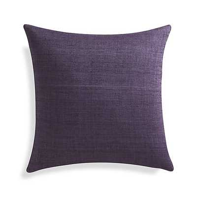 "Michaela Grape Purple 20"" Pillow- Down-alternative/Feather-down insert: - Crate and Barrel"