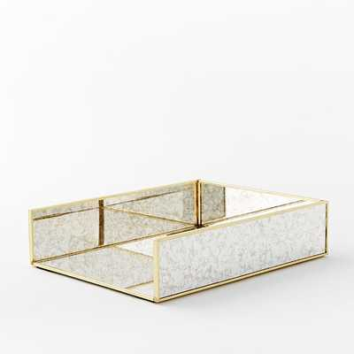 Foxed Mirror Office Accessories - Paper Tray - West Elm