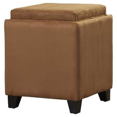 Nicholson Cube Storage Ottoman - Brown - AllModern