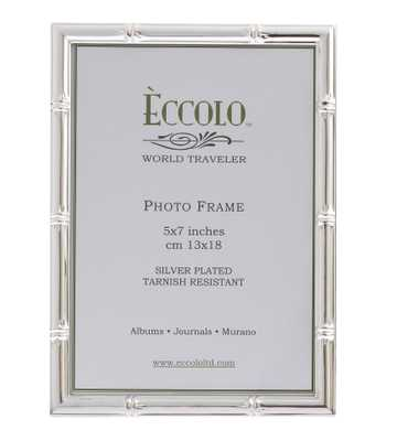Silverplate Frame Bamboo 4x6 - Alma Decor