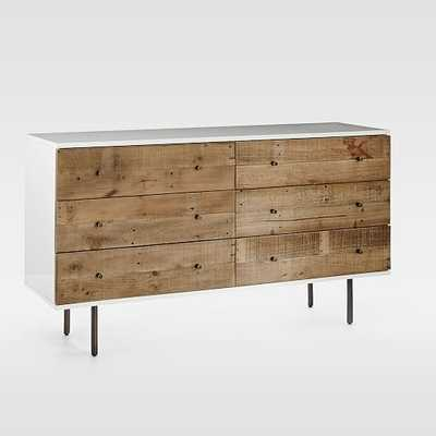 Reclaimed Wood + Lacquer 6-Drawer Dresser - West Elm