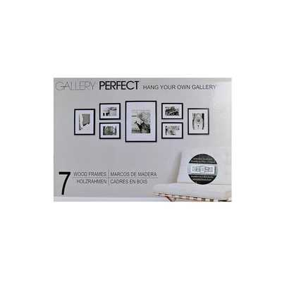 Pinnacle Frames & Accents Gallery Perfect 7 Piece Wall Kits - Matte Black - Overstock