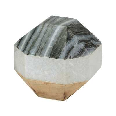 Marble and Wood Dodecahedron - Rosen Studio