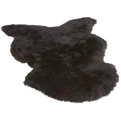 Icelandic black sheepskin throw - CB2