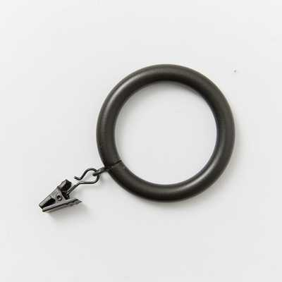 Round Metal Curtain Rings - Oversized - Gunmetal - Set of 7 - West Elm