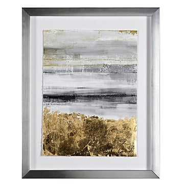 Gold Work 1 - Silver Frame with Mat - Z Gallerie