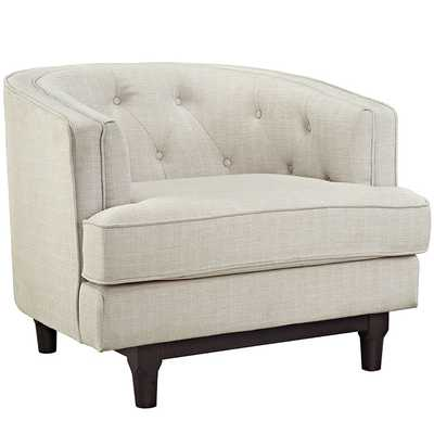 COAST ARMCHAIR IN BEIGE - Modway Furniture