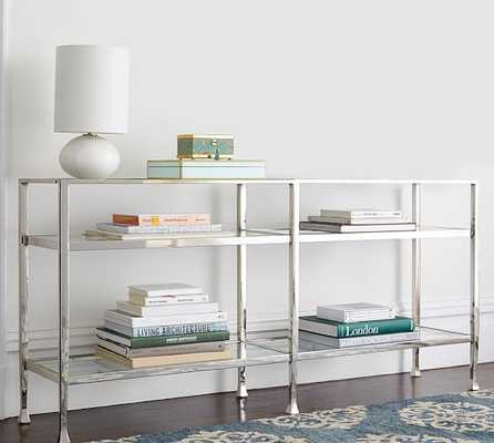 TANNER LONG CONSOLE TABLE - POLISHED NICKEL FINISH - Pottery Barn