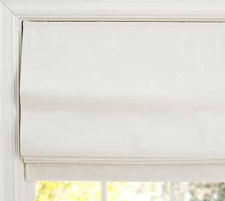 "Emery Linen/Cotton Cordless Roman Shade-32 x 64"" - Pottery Barn"