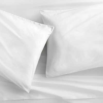 organic white percale standard pillowcases set of 2 - CB2