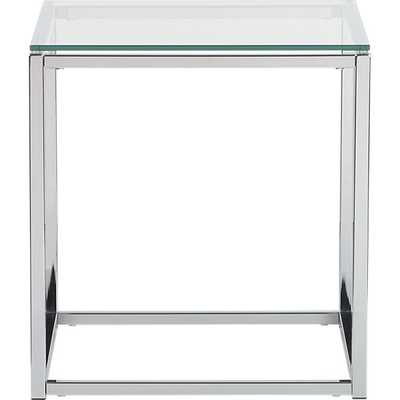 Smart glass top side table - CB2