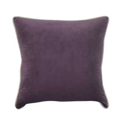 "Douglas Forge Solid Decorative Throw Pillow, Purple - 22"" H x 22"" W - Poly Fiber Fill - Wayfair"